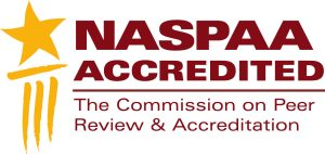 logo and accreditation statement for the NASPAA
